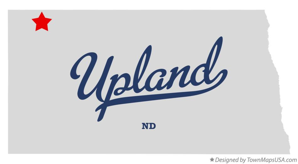 Map of Upland North Dakota ND