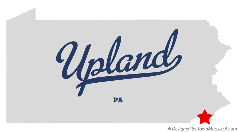 Map of Upland Pennsylvania PA