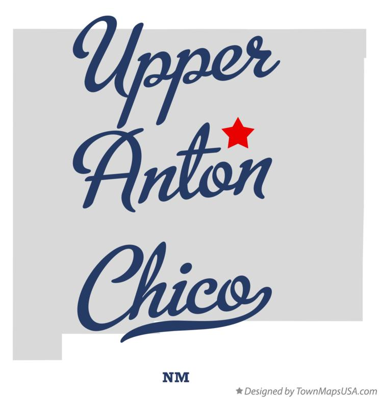 Map of Upper Anton Chico New Mexico NM