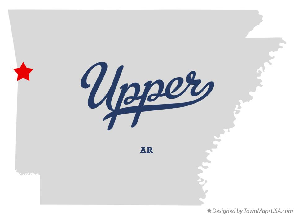 Map of Upper Arkansas AR