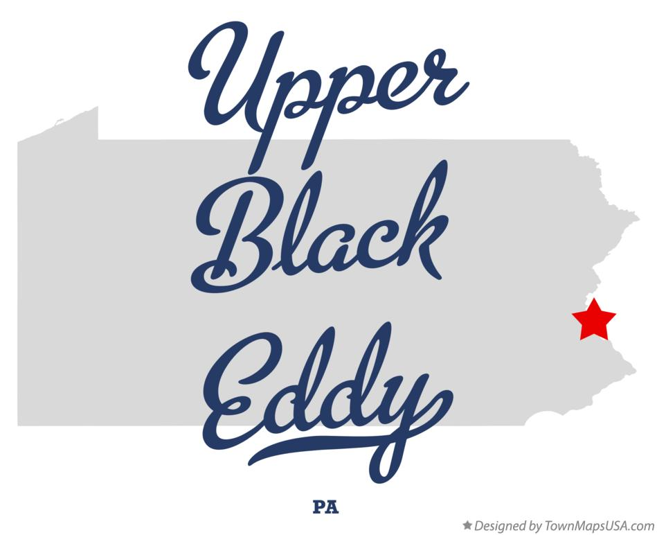 Map of Upper Black Eddy Pennsylvania PA
