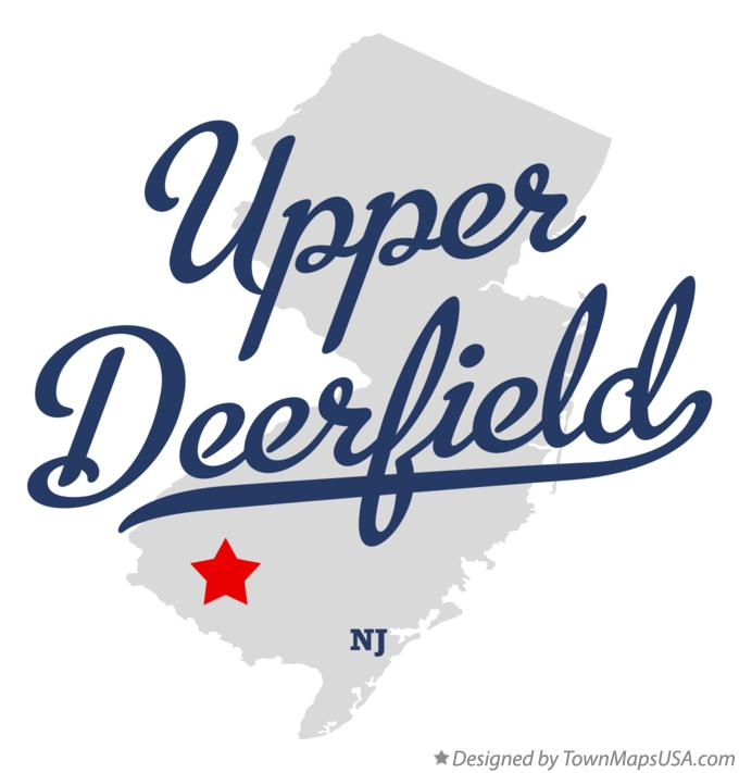 Map of Upper Deerfield New Jersey NJ
