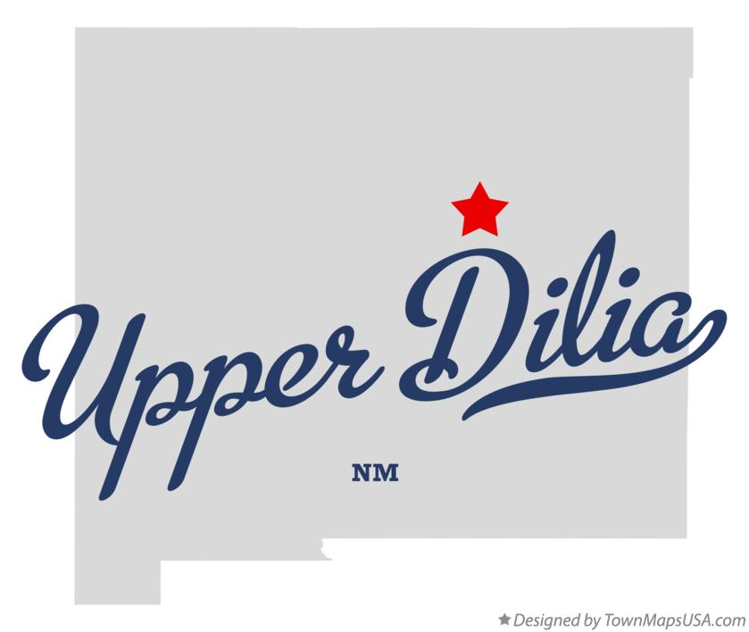 Map of Upper Dilia New Mexico NM