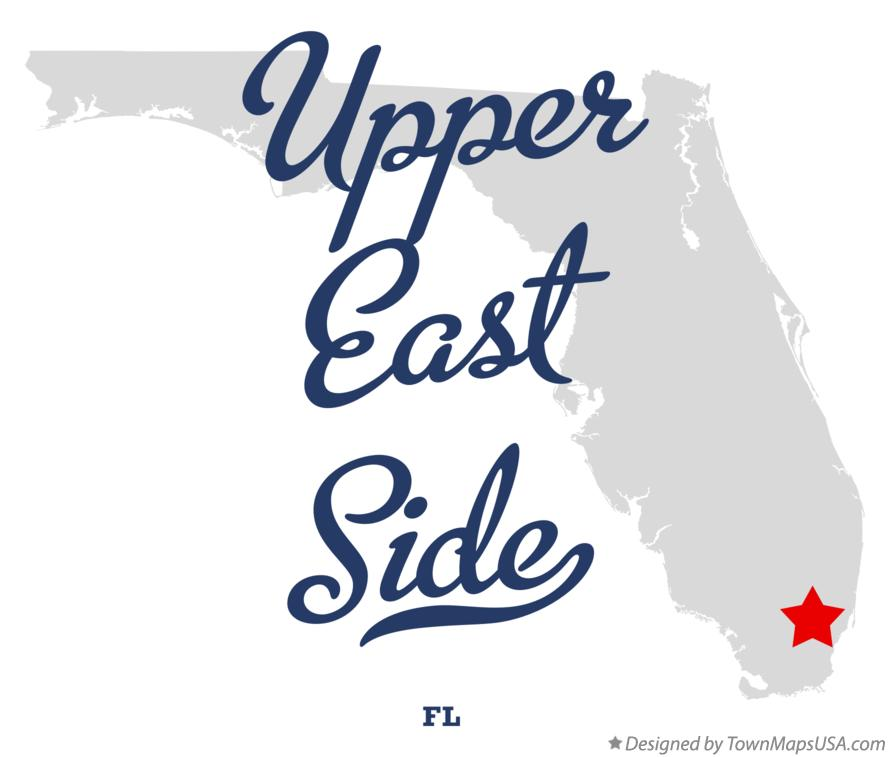 Map of Upper East Side Florida FL