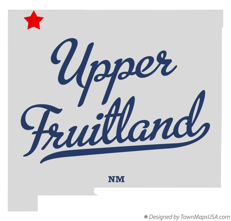 Map of Upper Fruitland New Mexico NM