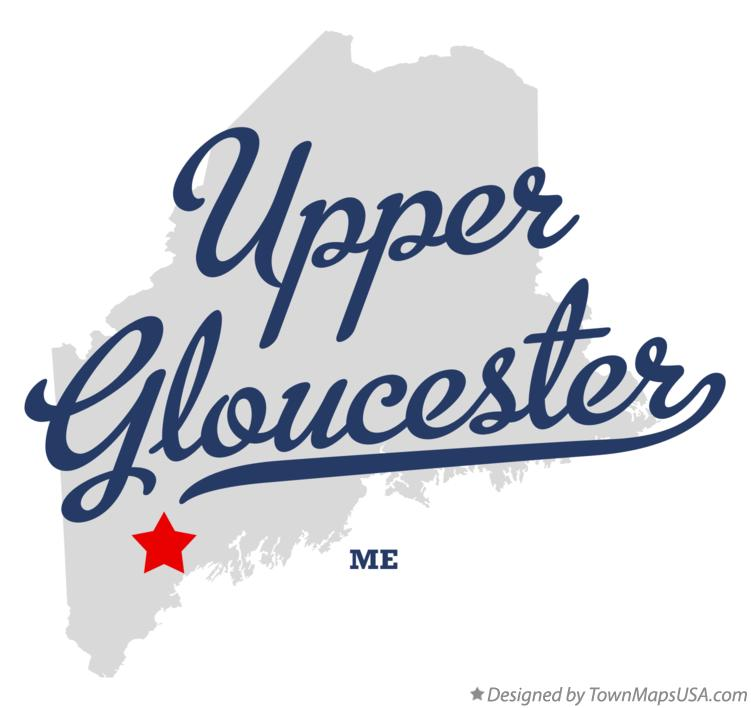 Map of Upper Gloucester Maine ME