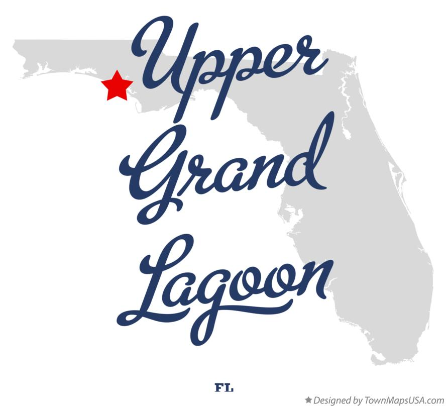 Map of Upper Grand Lagoon Florida FL