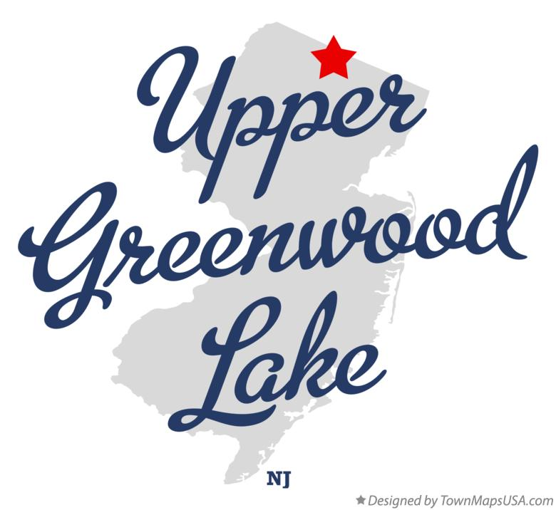 Map of Upper Greenwood Lake New Jersey NJ