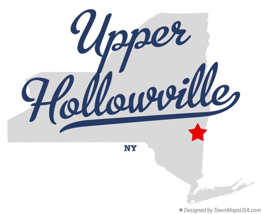 Map of Upper Hollowville New York NY