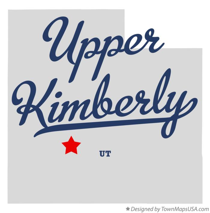 Map of Upper Kimberly Utah UT