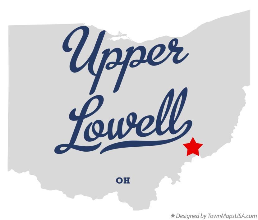 Map of Upper Lowell Ohio OH