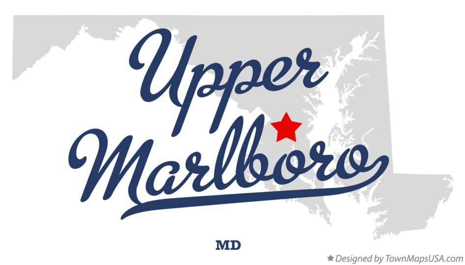 Map of Upper Marlboro Maryland MD
