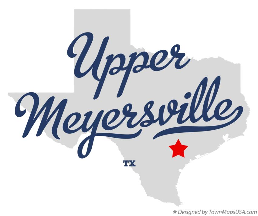 Map of Upper Meyersville Texas TX