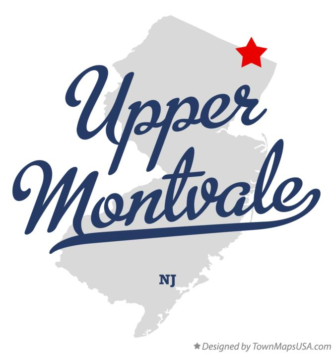 Map of Upper Montvale New Jersey NJ