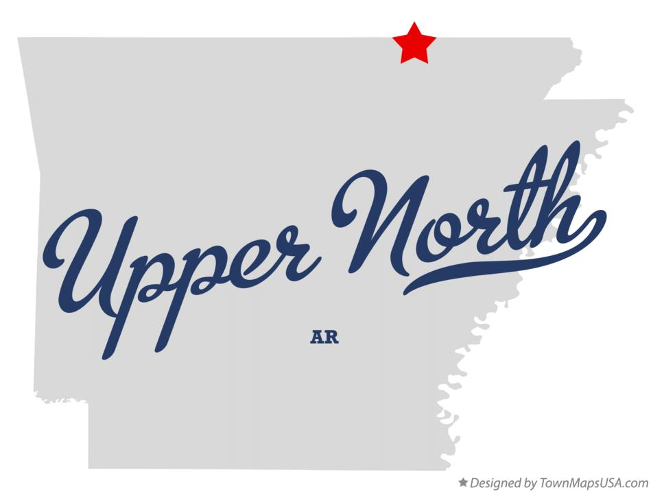 Map of Upper North Arkansas AR