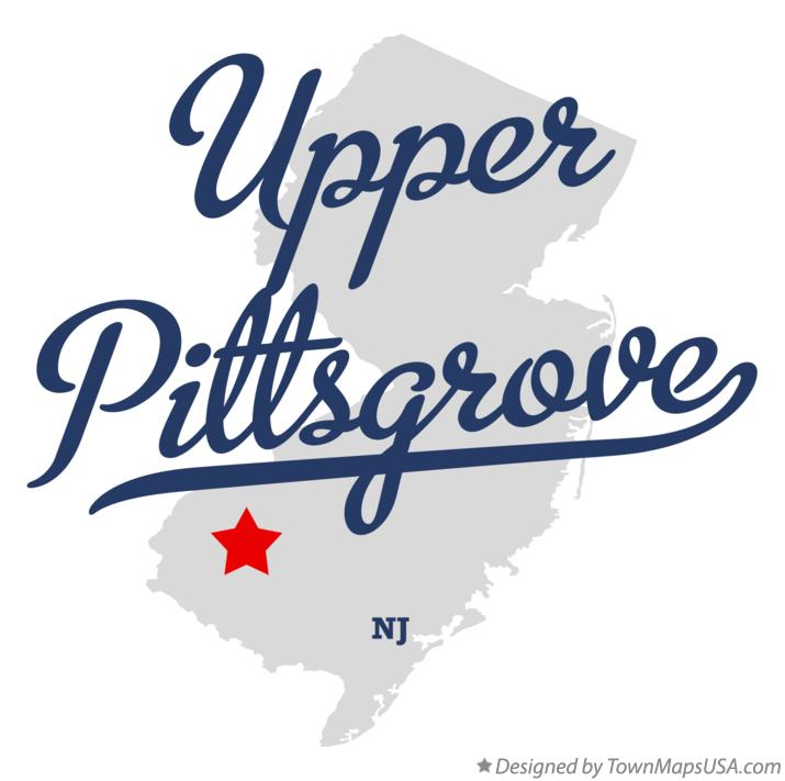 Map of Upper Pittsgrove New Jersey NJ