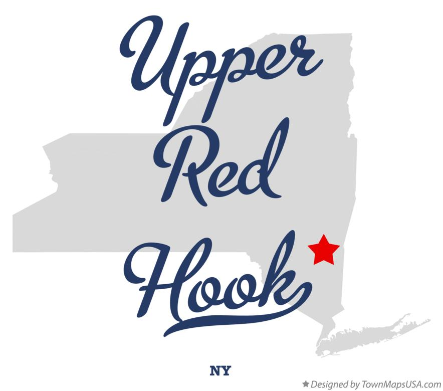 Map of Upper Red Hook New York NY