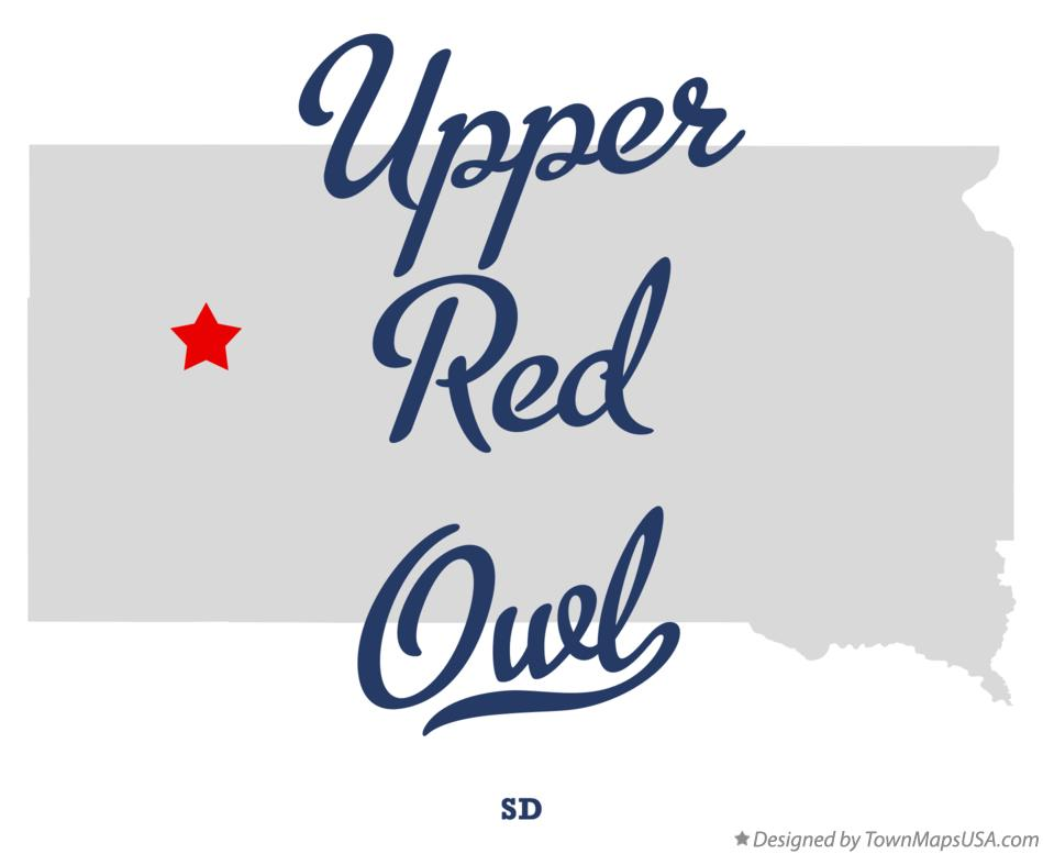 Map of Upper Red Owl South Dakota SD