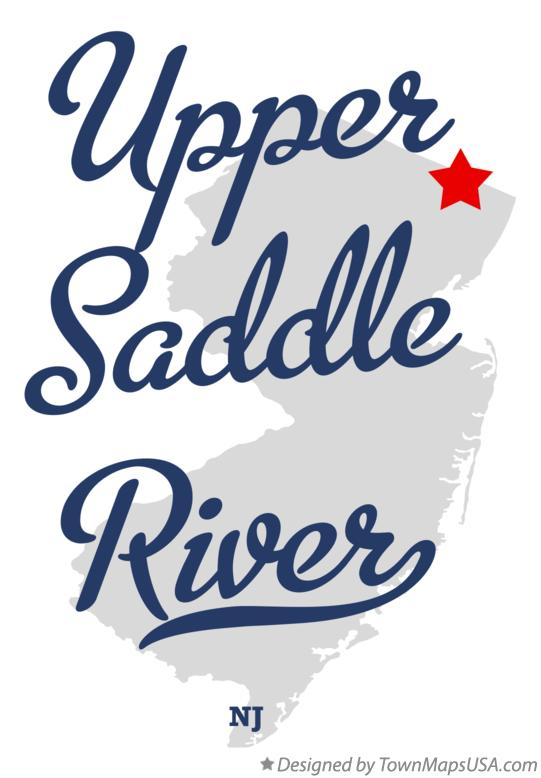 Map of Upper Saddle River New Jersey NJ