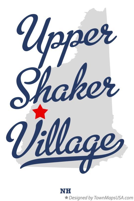 Map of Upper Shaker Village New Hampshire NH