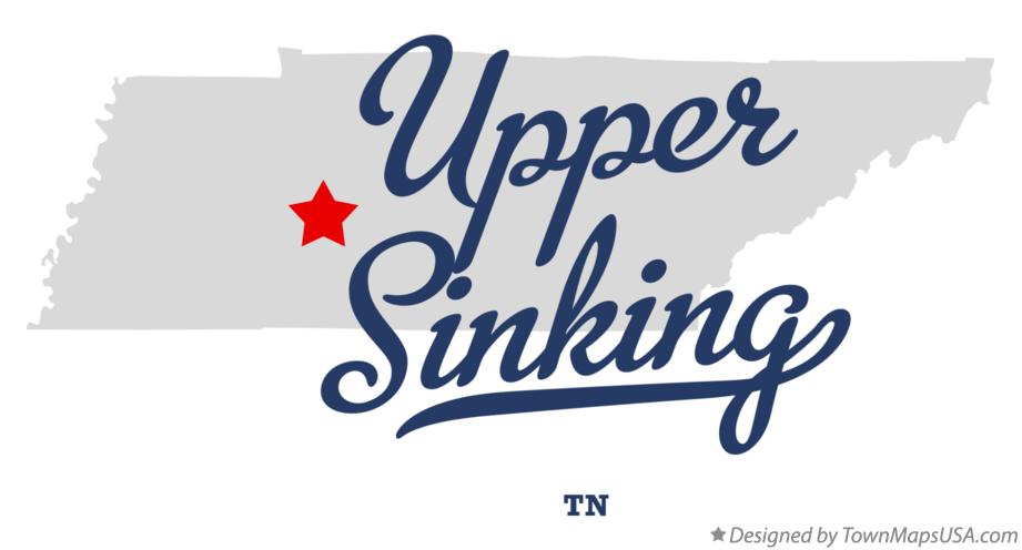 Map of Upper Sinking Tennessee TN