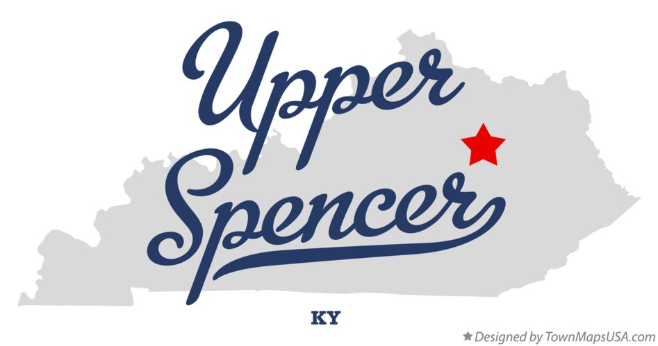 Map of Upper Spencer Kentucky KY