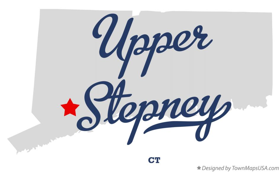 Map of Upper Stepney Connecticut CT