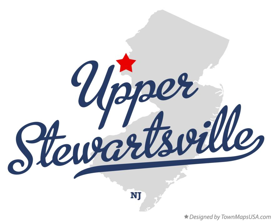 Map of Upper Stewartsville New Jersey NJ
