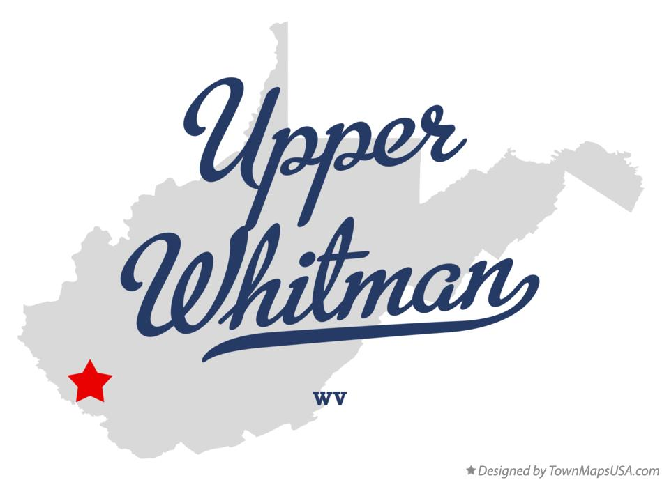 Map of Upper Whitman West Virginia WV