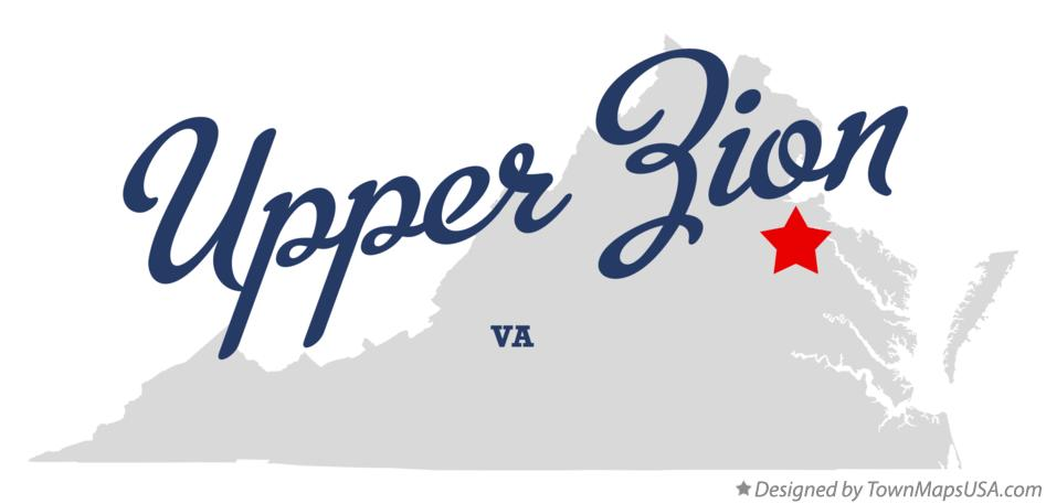 Map of Upper Zion Virginia VA