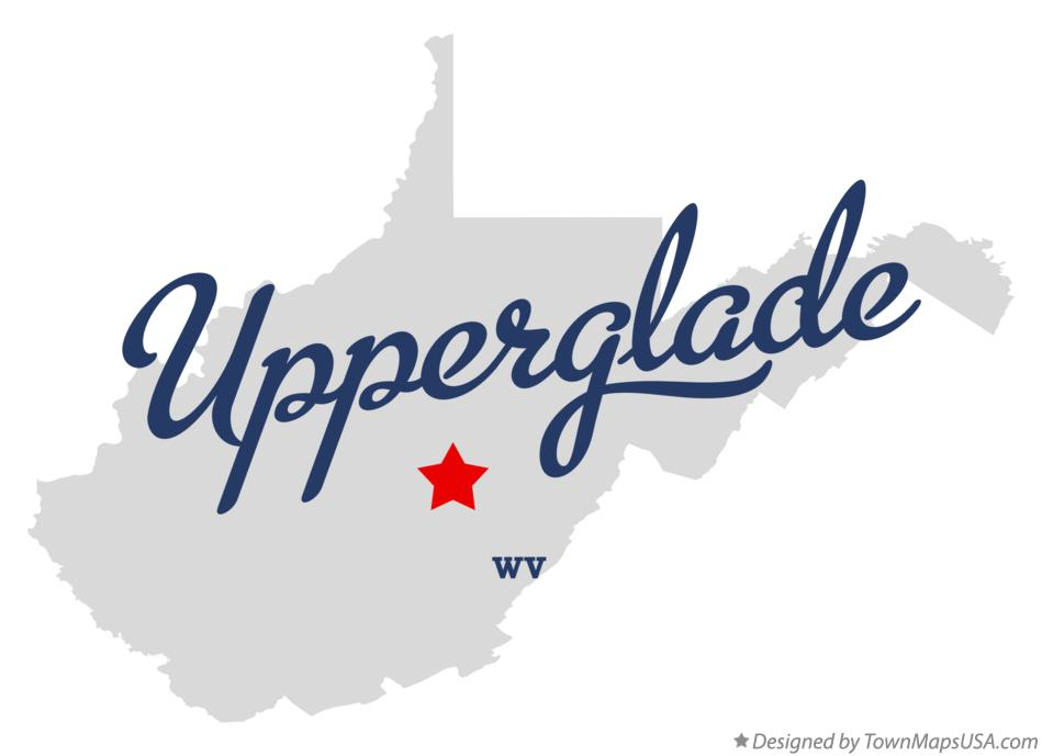 Map of Upperglade West Virginia WV