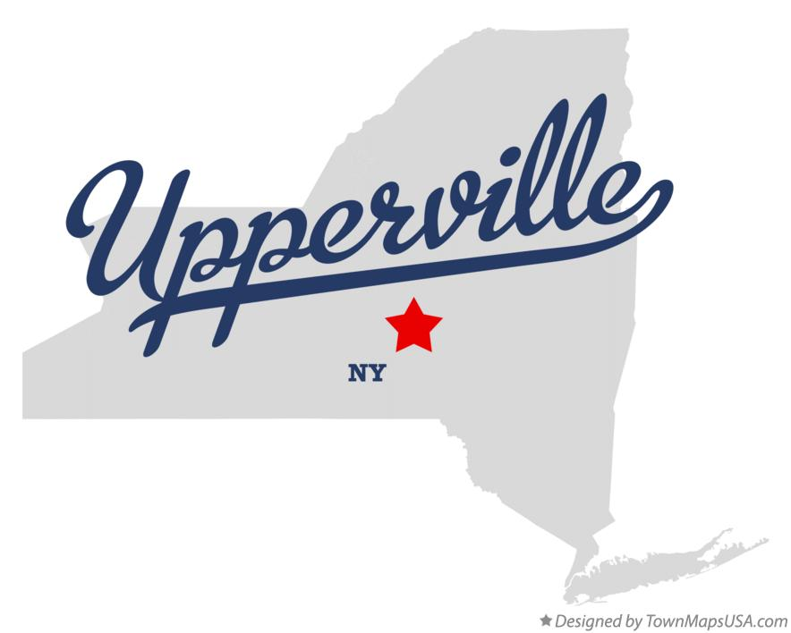 Map of Upperville New York NY
