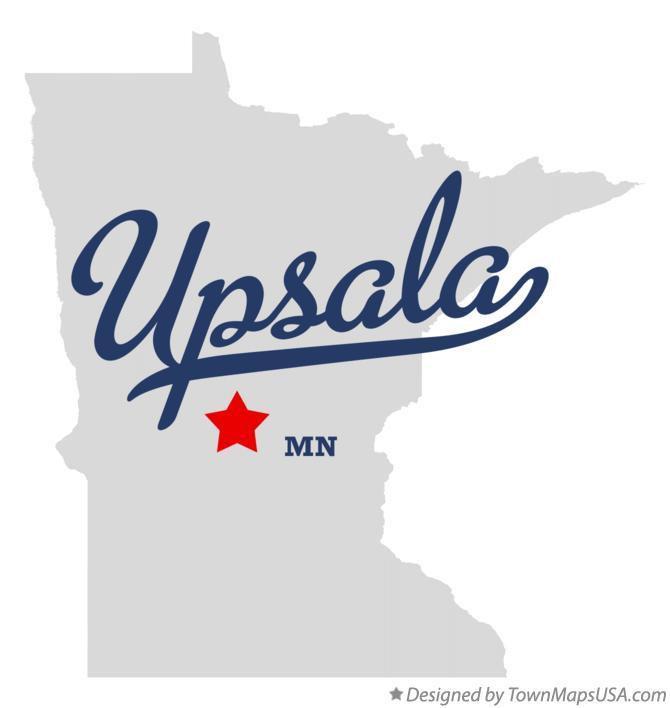 Map of Upsala Minnesota MN
