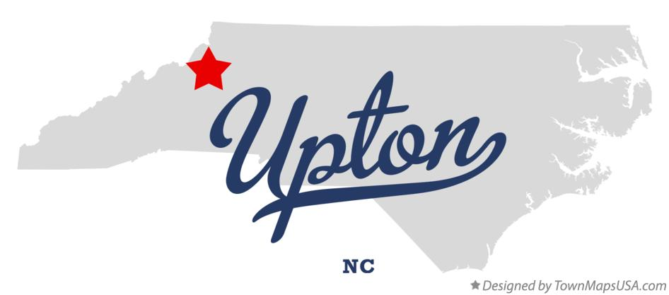 Map of Upton North Carolina NC