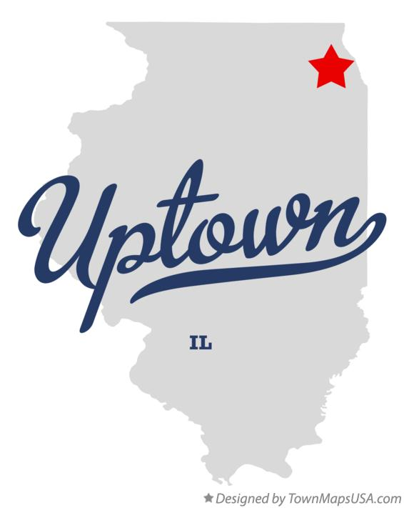 Map of Uptown Illinois IL