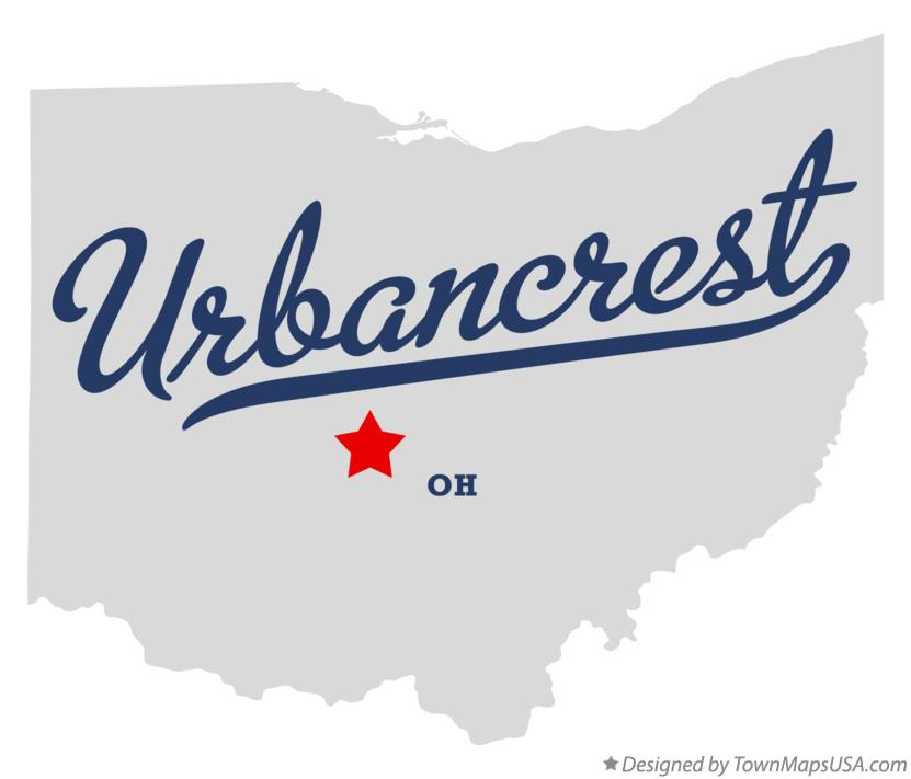 Map of Urbancrest Ohio OH