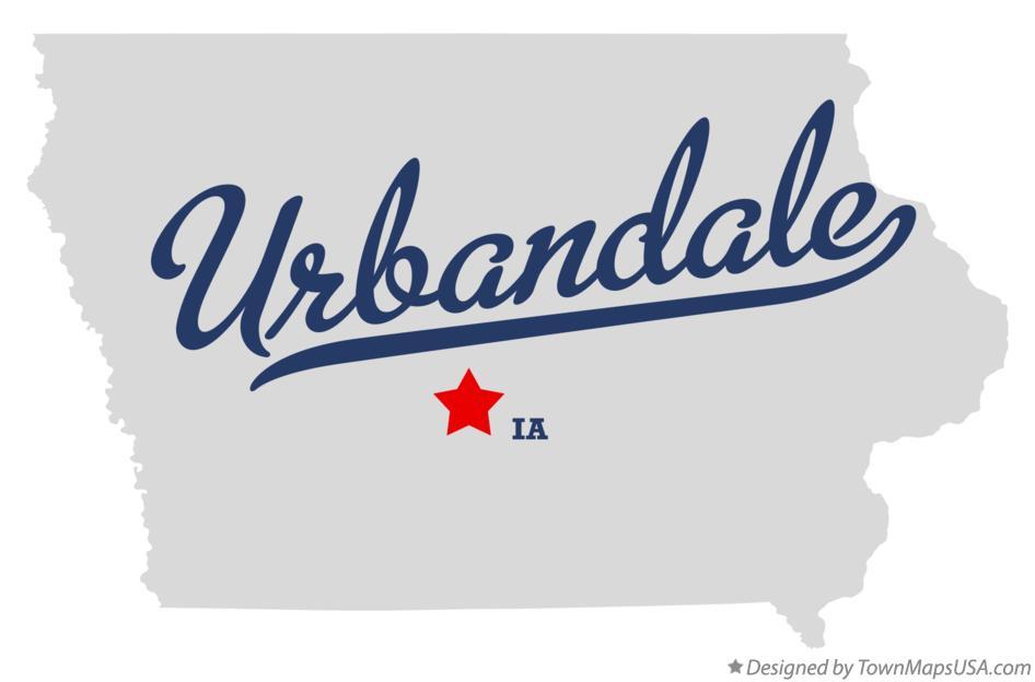 Map of Urbandale, IA, Iowa