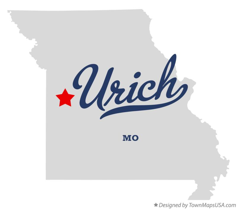 Map of Urich Missouri MO