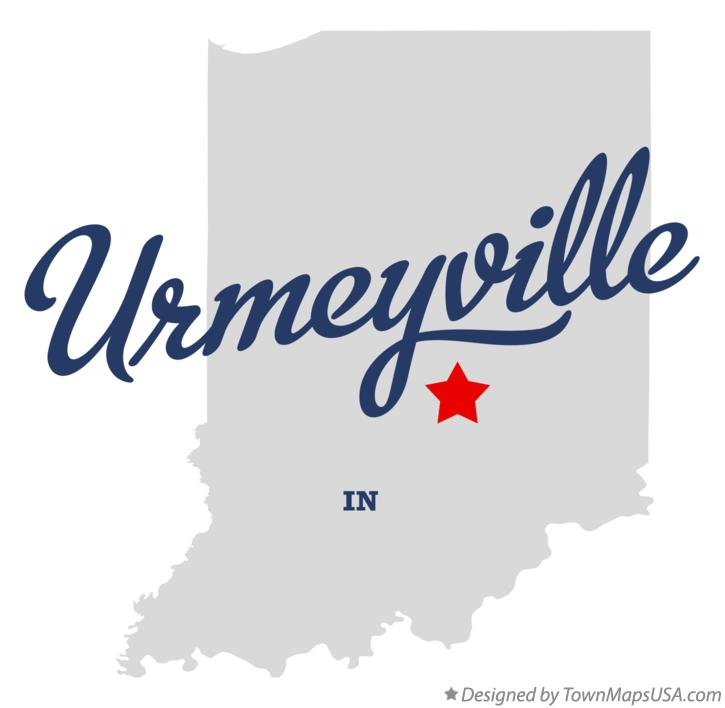 Map of Urmeyville Indiana IN