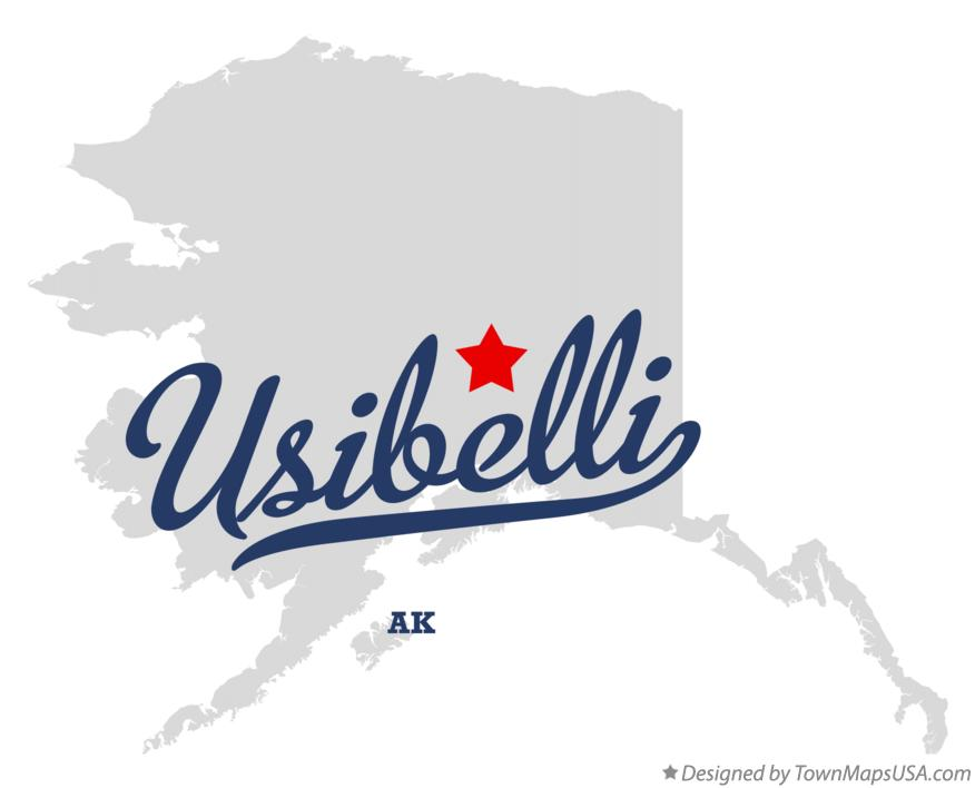 Map of Usibelli Alaska AK