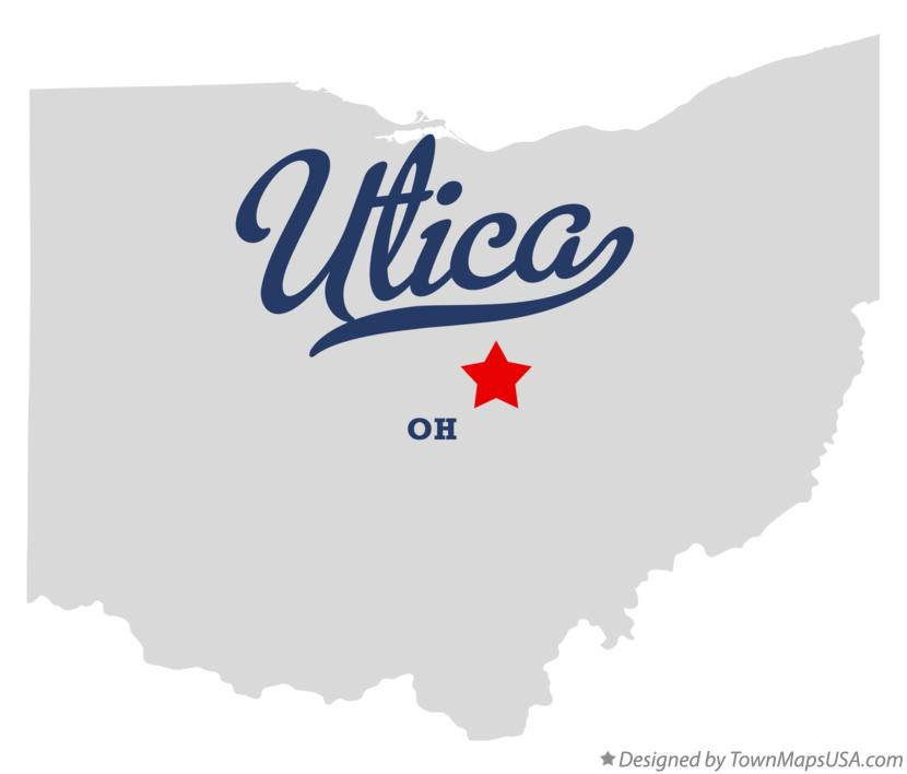 Map of Utica Ohio OH