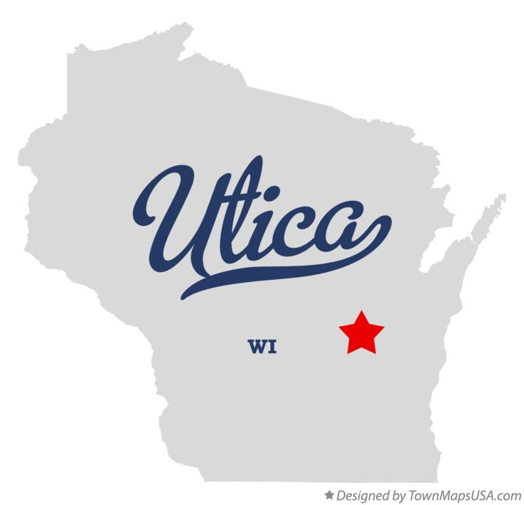 Map of Utica Wisconsin WI