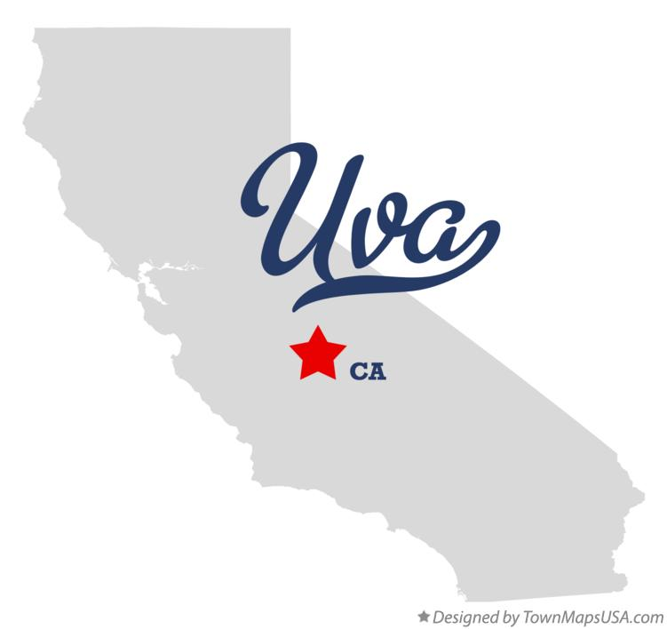 Map of Uva California CA