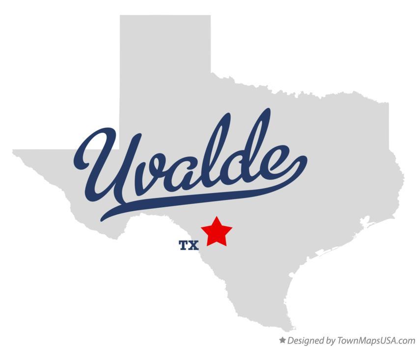 Map Of Uvalde Tx Texas