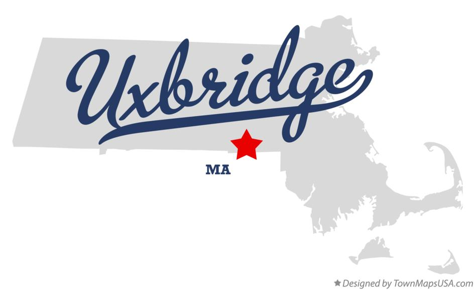 Map of Uxbridge Massachusetts MA