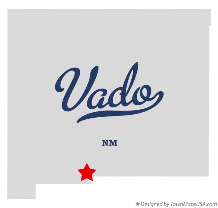 Map of Vado New Mexico NM