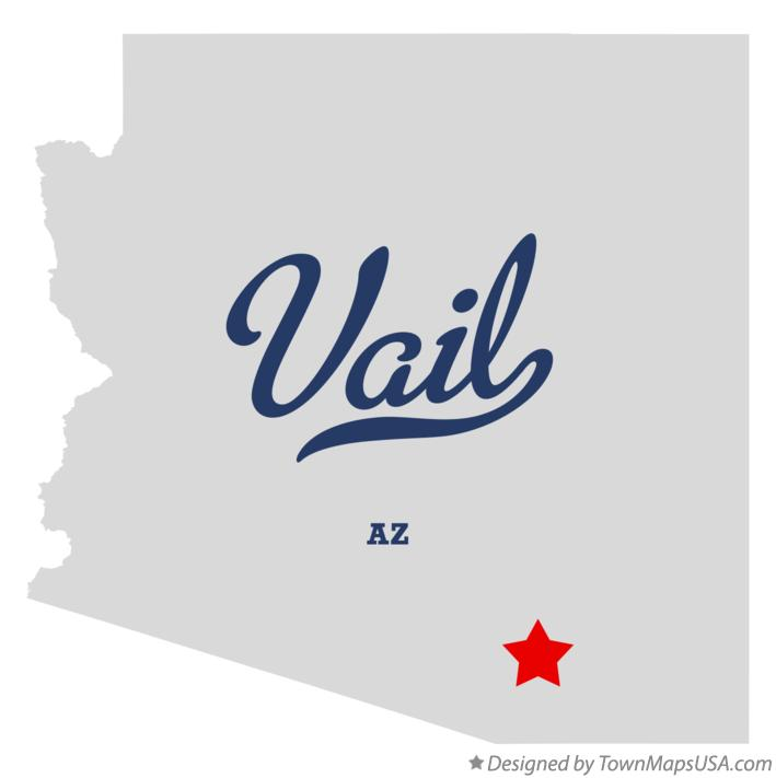 Map of Vail Arizona AZ