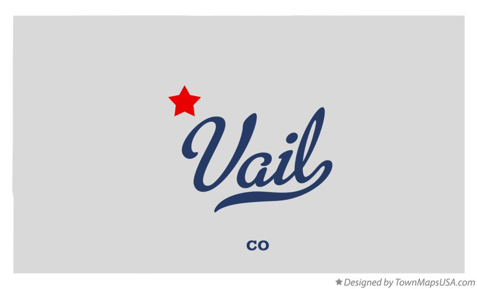 Map of Vail, CO, Colorado