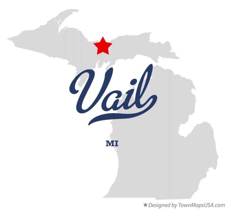 Map of Vail Michigan MI