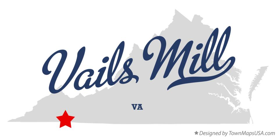 Map of Vails Mill Virginia VA